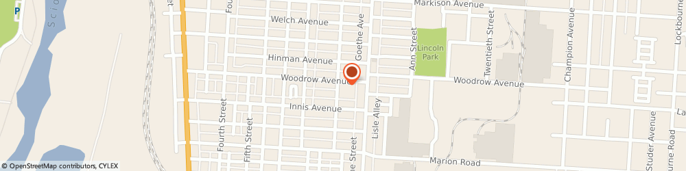 Route/map/directions to Hungarian Reformed Church, 43207 Columbus, 365 E Woodrow Ave