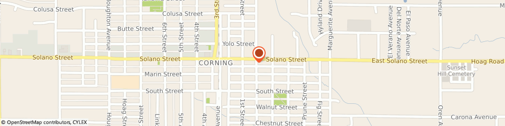 Route/map/directions to Power Market, 96021 Corning, 809 Solano St.