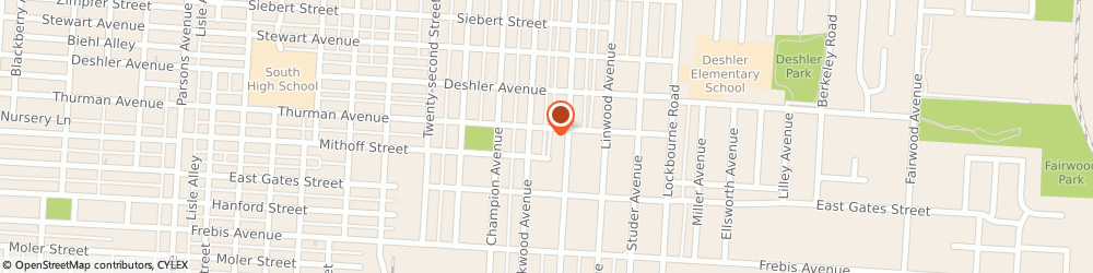 Route/map/directions to Apostolic Holy Temple, 43206 Columbus, 995 Thurman Ave
