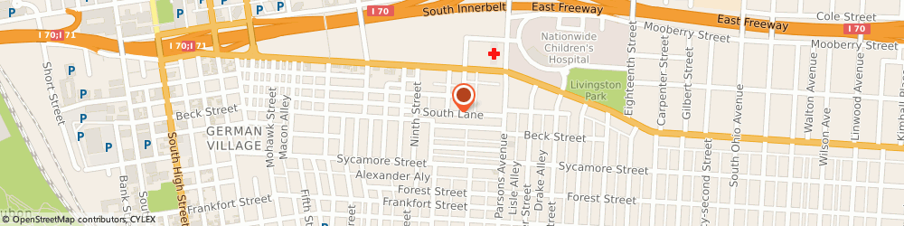 Route/map/directions to Health Options Unlimited, 43206 Columbus, 489 SOUTH LN