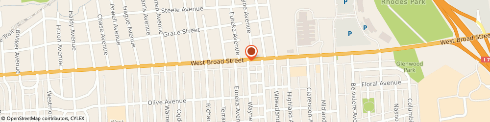 Route/map/directions to Riggs Corner Market, 43204 Columbus, 2395 W BROAD ST