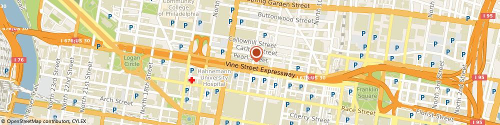 Route/map/directions to Richart Graphics, 19107 Philadelphia, 1305 Vine St.