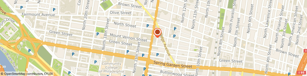 Route/map/directions to Phl Taxi, 19123 Philadelphia, 641 N BROAD ST