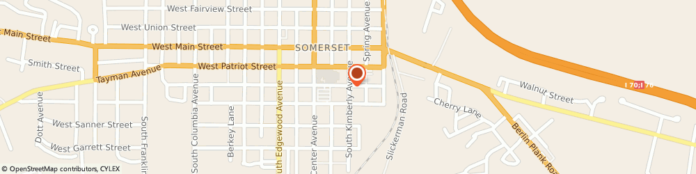 Route/map/directions to Somerset Church of Christ, 15501 Somerset, 310 South Kimberly Avenue