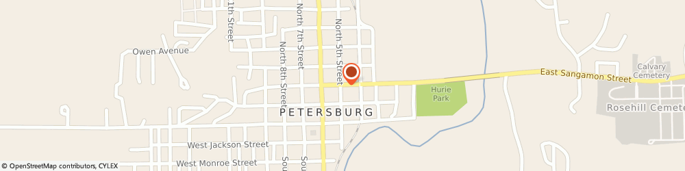 Route/map/directions to Petersburg Hardware/Service Incorporated, 62675 Petersburg, 322 E SANGAMON AVE