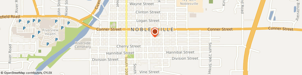 Route/map/directions to Fishers Towing Service, 46060 Noblesville, 990 S 13th St