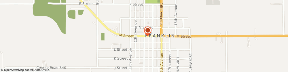 Route/map/directions to Congregational United Church Of Christ, 68939 Franklin, 601 14Th Ave