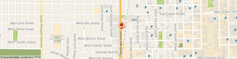 Route/map/directions to Safeco Insurance Agent, 61820-5203 Champaign, 711 S Neil St