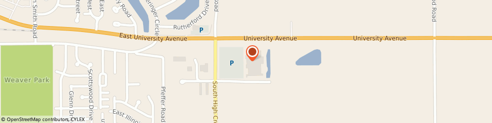Route/map/directions to Jackson Hewitt Tax Service, 61802 Urbana, 100 HIGH CROSS ROAD