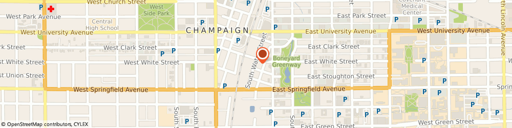 Route/map/directions to Gaines Fence & Co, 61820 Champaign, 306 South Water Street