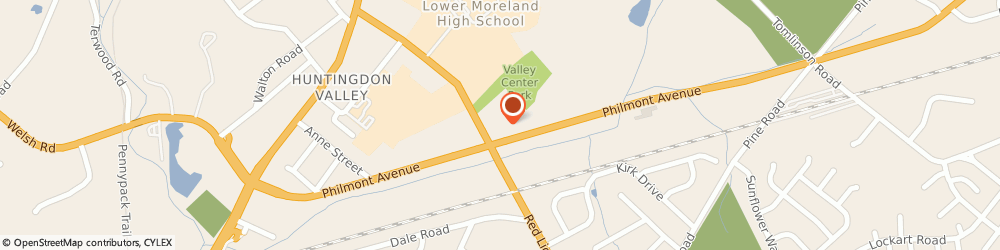 Route/map/directions to Safeco Insurance Agent, 19006-5308 Huntingdon Valley, 2600 Philmont Ave Ste 218