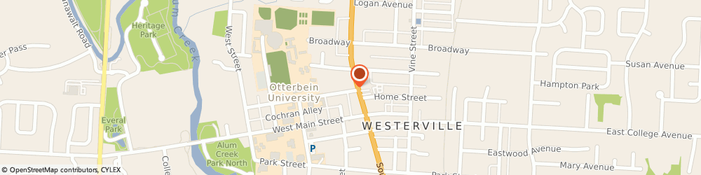 Route/map/directions to Home Sweet Home, 43081 Westerville, 77 NORTH STATE STREET