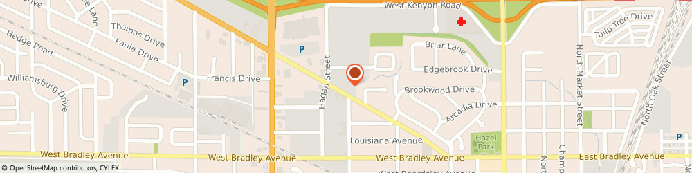 Route/map/directions to Safeco Insurance Agent, 61820-2560 Champaign, 702 Bloomington Rd Ste 205