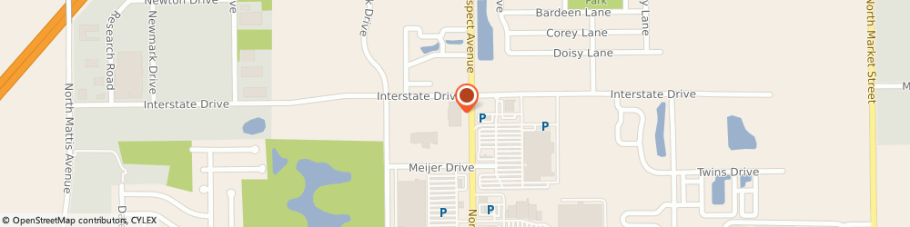 Route/map/directions to Furniture Row, 61822 Champaign, 2711 N. Prospect Ave.