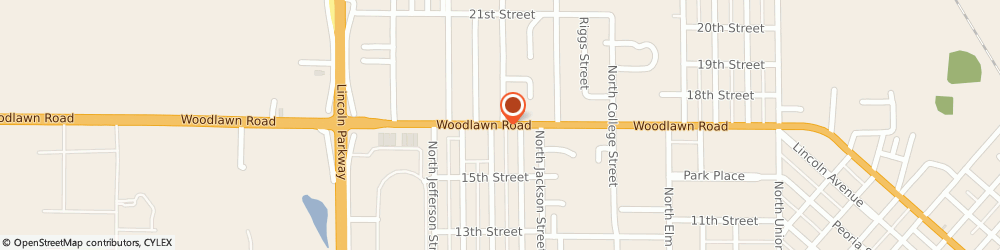 Route/map/directions to Atm Great Western Bank, 62656 Lincoln, 809 Woodlawn Rd