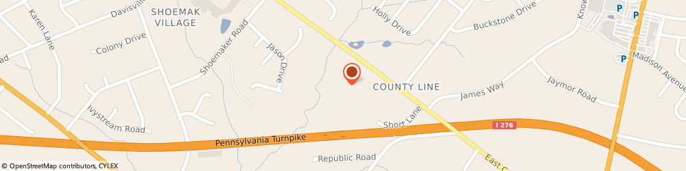 Route/map/directions to Primerica Howard Lashner, 19006 Huntingdon Valley, 1840 County Line Rd Ste 105-106