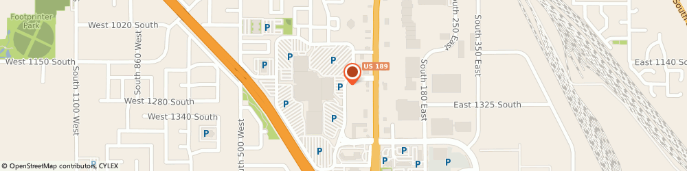 Route/map/directions to Aeropostale Provo, 84601 Provo, 1200 Towne Centre Boulevard
