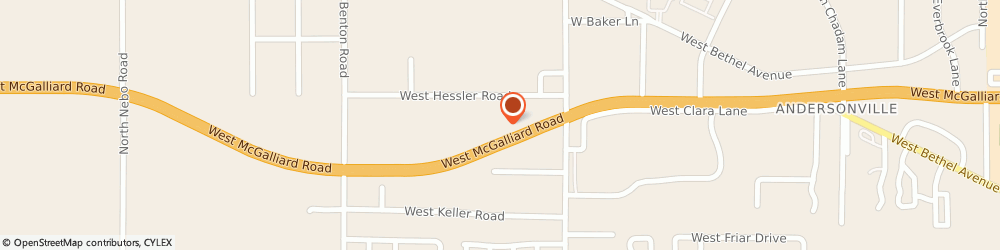 Route/map/directions to Affordable Dentures & Implants, 47304 Muncie, 5081 W Hessler Rd.