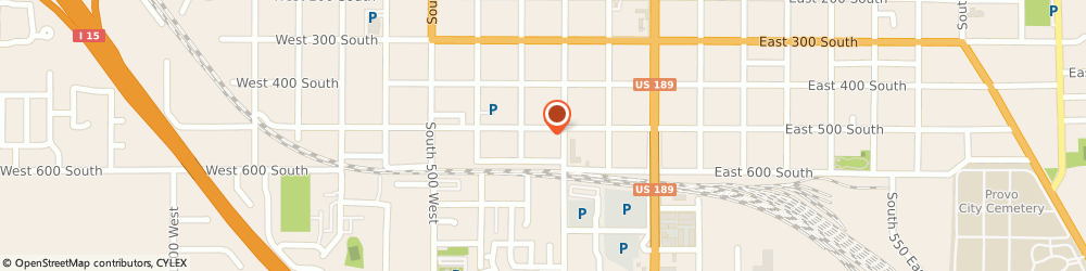 Route/map/directions to Firestone Retailer, 84601 Provo, 241 West 500 South