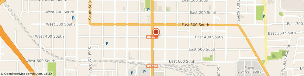 Route/map/directions to Isuzu Clifford Motors, 84601 Provo, 410 SOUTH UNIVERSITY AVENUE