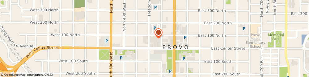 Route/map/directions to Provo Marriott Hotel & Conference Center, 84601 Provo, 101 West 100 North