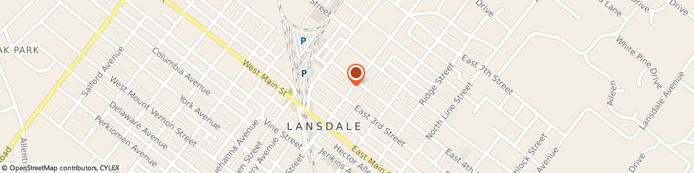 Route/map/directions to Lansdale United Methodist Church, 19446 Lansdale, 300 N Broad Street