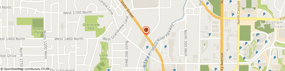 Route/map/directions to Big O Tires, 84604 Provo, 1461 N State Street