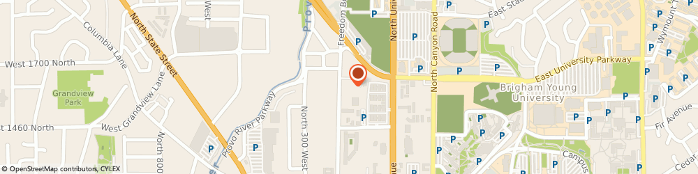 Route/map/directions to SpringHill Suites by Marriott Provo, 84604 Provo, 1580 North Freedom Boulevard