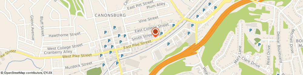 Route/map/directions to Subway, 15317 Canonsburg, 175 E Pike St