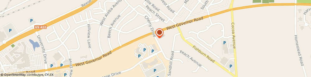 Route/map/directions to Hershey Outpatient Surgery Ctr, 17033 Hershey, 650 CHERRY DR