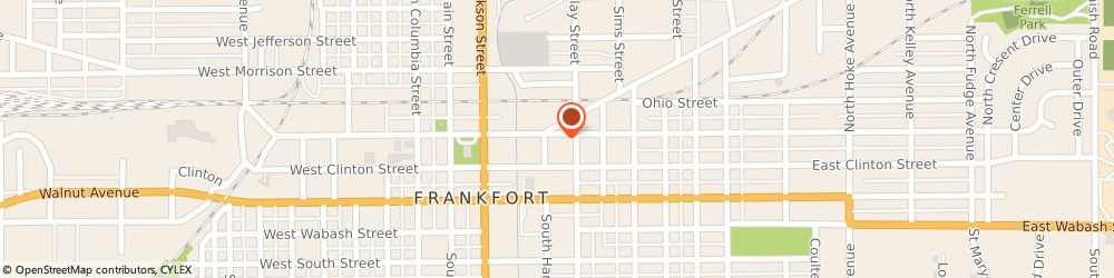 Route/map/directions to NAPA Auto Parts - Frankfort Automotive Supply, 46041 Frankfort, 53 Sycamore St