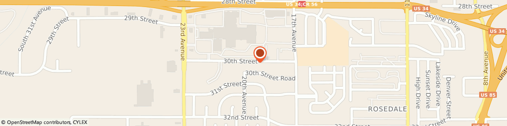 Route/map/directions to The Creators Branding Boutique, 80631 Greeley, 1900 30th St
