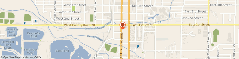 Route/map/directions to C & M Garage Doors, 80537 Loveland, 123 S Cleveland Ave,