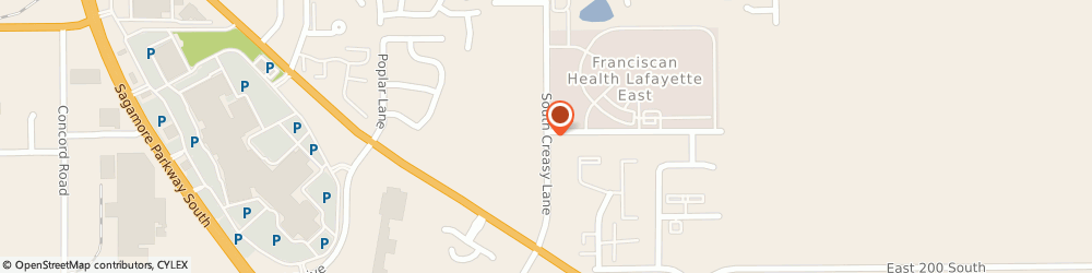 Route/map/directions to Creasy Springs Health Campus, 47905 Lafayette, 1750 S. Creasy Lane