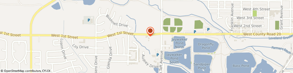 Route/map/directions to Comcast Service Center, 80537 Loveland, 1582 W 1st St