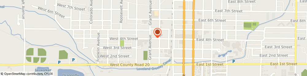Route/map/directions to Kitty Peterson & Assoc, 80537 Loveland, 231 W 4th St