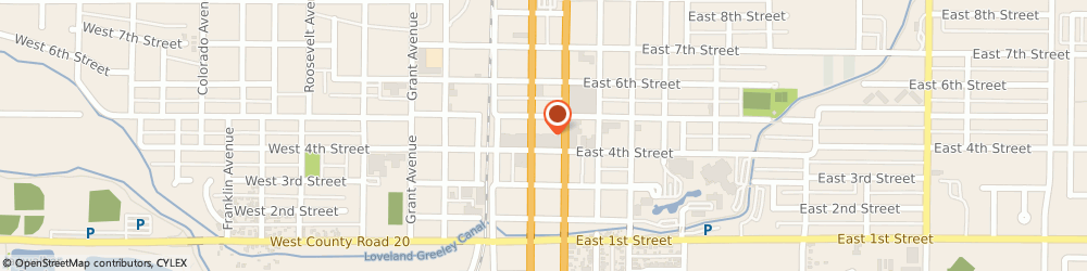 Route/map/directions to Datatraks, 80537 Loveland, 213 E 4Th St