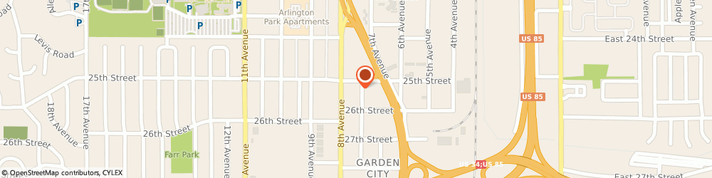 Route/map/directions to Skow Photography, 80631 Greeley, 2515 7TH AVE