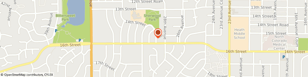 Route/map/directions to Stewart Beverly Asid, 80634 Greeley, 1527 28TH AVENUE COURT