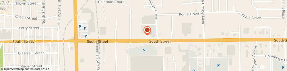 Route/map/directions to Fifth Third Bank & ATM, 47905 Lafayette, 3620 South Street
