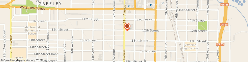 Route/map/directions to Gold Mechanics, 80631 Greeley, 1209 11TH AVENUE