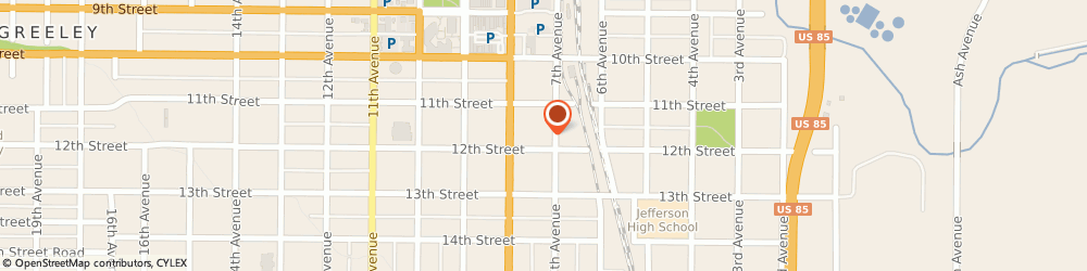 Route/map/directions to Phil's Pro Auto Service, 80631 Greeley, 707 12th St.