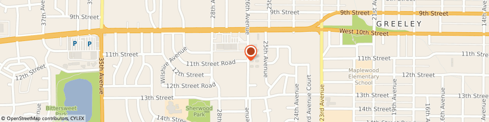 Route/map/directions to Anvil Graphics, 80634 Greeley, 2619 W 11th St. Rd. Ste 21
