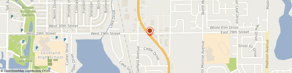 Route/map/directions to Coffee & Bagels, 80538 Loveland, 104 E 29th Street