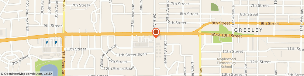 Route/map/directions to Chase Bank, 80631 Greeley, 2600 W 10th St