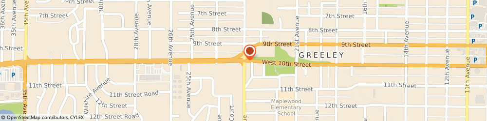 Route/map/directions to Citibank ATM, 80631 Greeley, 2540 10Th St
