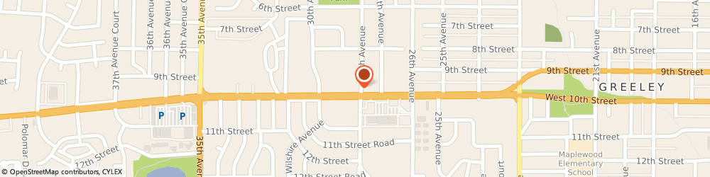 Route/map/directions to Navy Federal Credit Union ATM, 80634 Greeley, 2803 W 10Th St