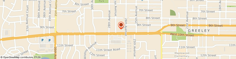 Route/map/directions to K & l Tax Service, 80634 Greeley, 2627 WEST 10TH STREET SUITE 4