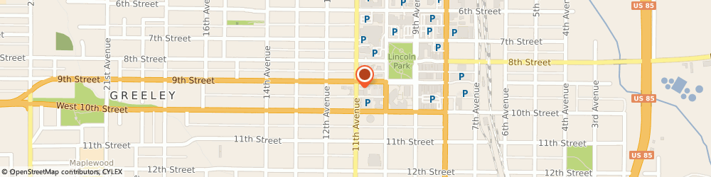 Route/map/directions to Post Office - Downtown Station Greeley, 80631 Greeley, 925 11TH AVENUE