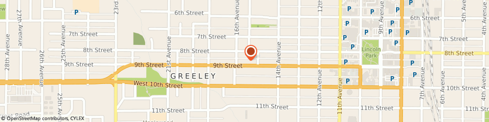 Route/map/directions to American Pawn Shop, 80631 Greeley, 1523 9TH STREET